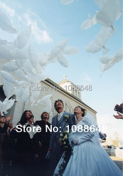 Free shipping 100pcs/lot high quality inflatable  helium Pigeon balloon white doves wedding balloon decoration pe