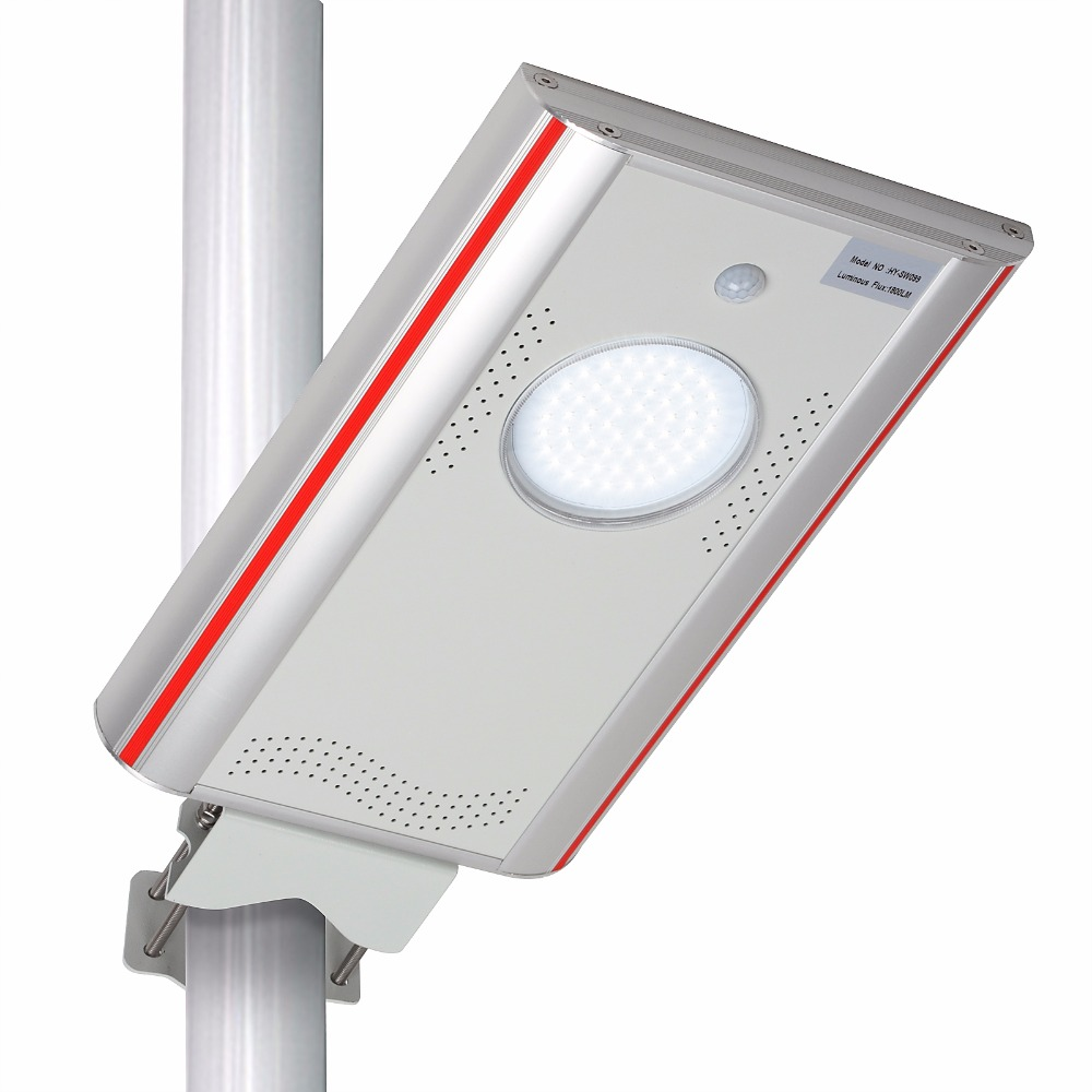 1,800LM LED Solar Street Light Outdoor Commercial IP65