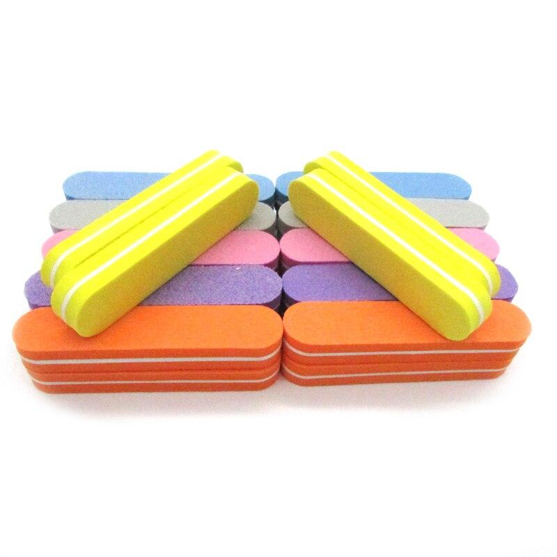 20Pcs/lot Mix Color Disposable Nail File Sponge Sanding Block Nails Files Buffer Nail Polish Tools 180/240 Punte Fresa Cuticole