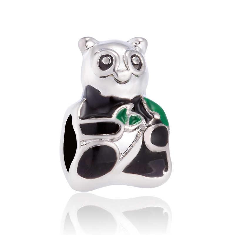 Chất Lượng Tốt Màu Sắc Đen Mèo Cây Camera Quần Áo Gấu Trúc Loài Rắn Mickey Mặt Dây Chuyền Hạt Phù Hợp Với Pandora Charm Tự Làm Vòng Tay Cho Nữ