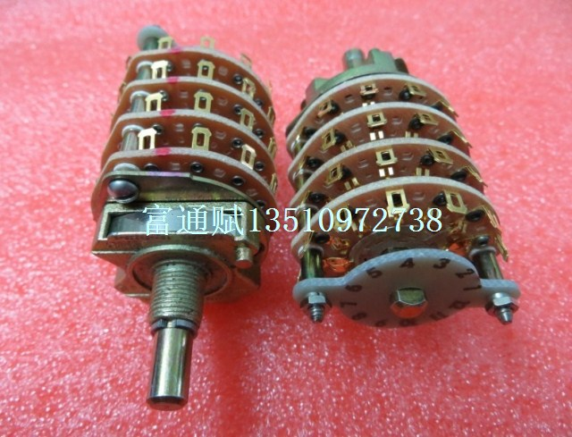 [VK] The United States imported OAK band switch 259-2825-120 4 layer 4 files handle long 23MM circular shaft united states ab18a10 2 proximity switch