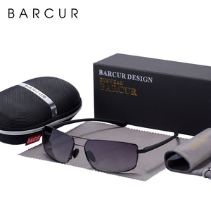 Image 4 - BARCUR Cutom Sunglasses Men Driving Shades Male Sun Glasses For Men Oculos de sol