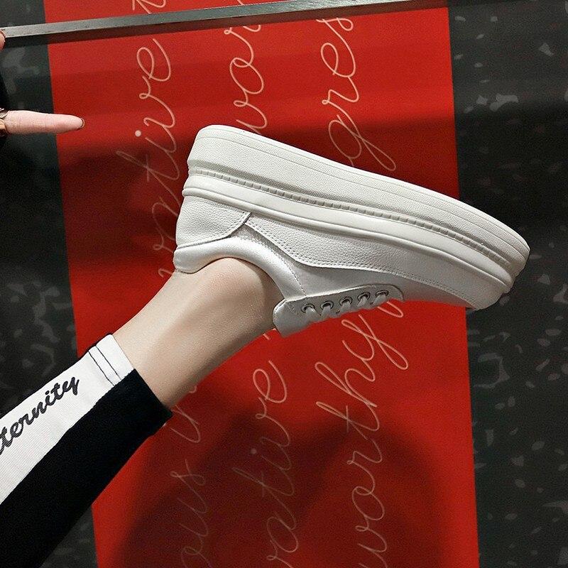 De Femmes 39 Rose D1000 forme Avant Nouveau Mode Wedge Non Blanc Dentelle Rose Taille 35 Le slip blanc 2019 Chaussures Plate Casual up FwH7paq