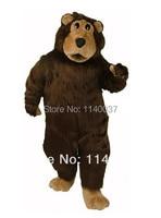 mascot Brown Fur Boris Bear Mascot Costume Adult Size Deluxe Plush Brown Bear Mascotte Mascota Outfit Suit Fancy Dress