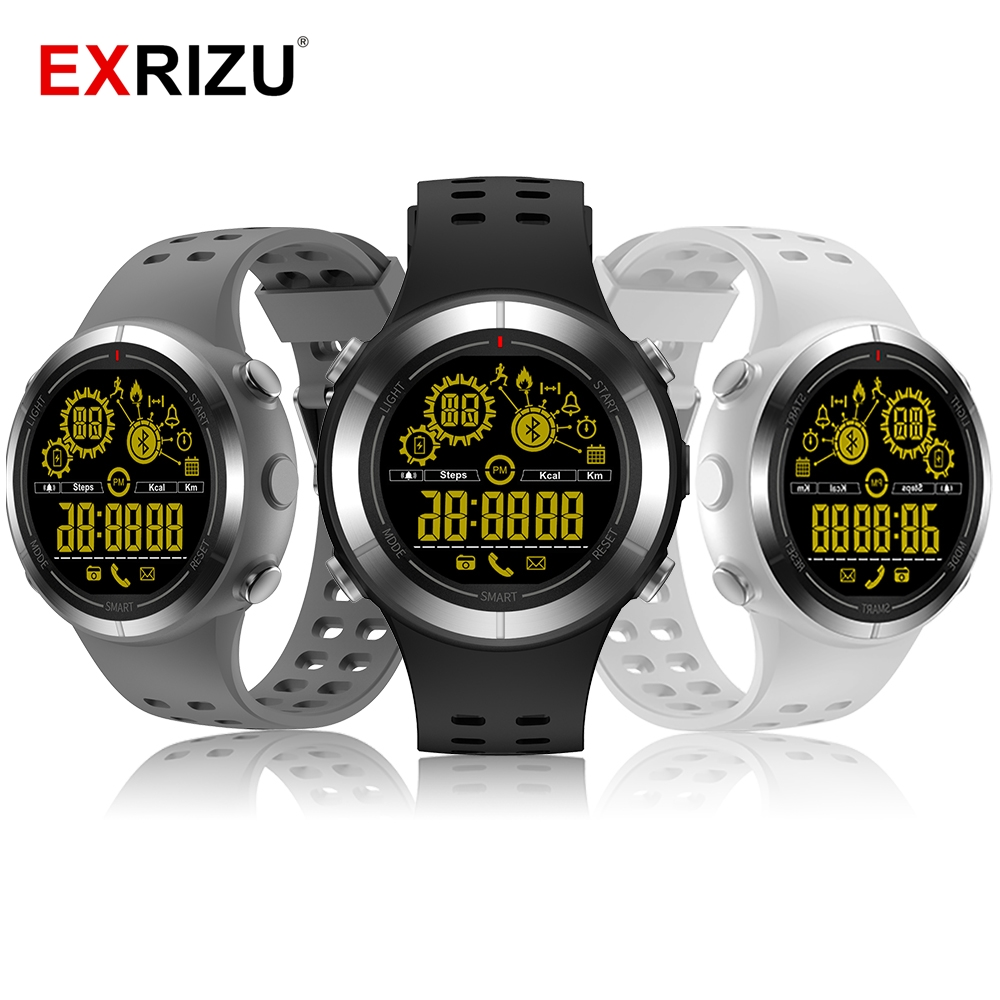 EXRIZU Sport <font><b>Smart</b></font> <font><b>Watch</b></font> EX32 Pedometer Calls SMS Remind 5ATM IP68 Waterproof Stopwatch for Swimming Run Step pk F3 <font><b>EX18</b></font> EX16 image