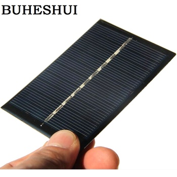 BUHESHUI Wholesale 0.6W 5V Solar Cell Solar Module Polycrystalline Solar Panel Charger For 3.7V 84*56MM 60pcs/lot Free Shipping