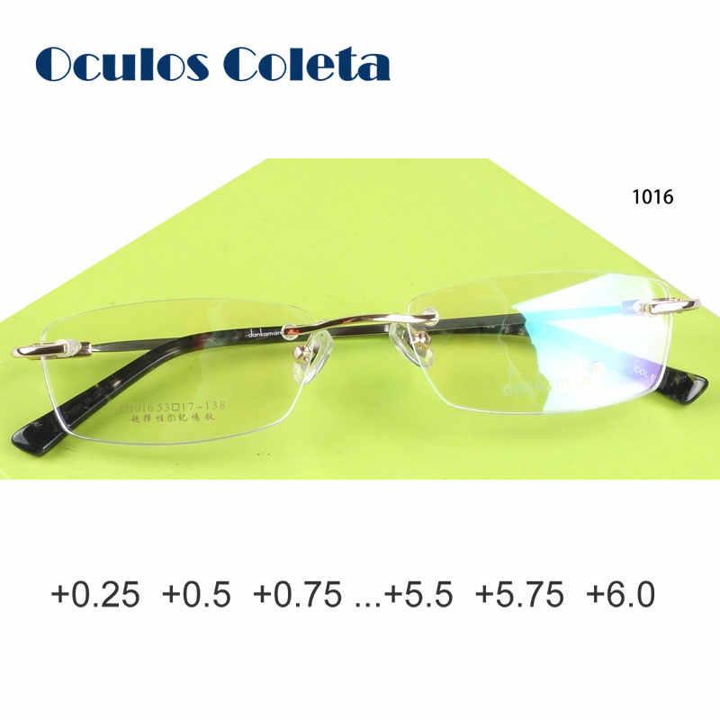 99c11e88d64 Titanium reading glasses for men and women rimless lightweight custom 0.25  0.75 1.0 1.75 2.25 2.5
