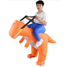 Dinosaur Inflatable Clothing Cartoon Doll Clothes Sumo Props Party Funny Adult Orange