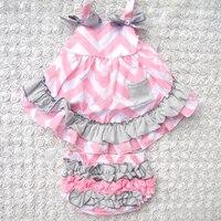 4色パッチワーク赤ちゃん女の子服セット夏スタイル甘い王女ノースリーブ赤ちゃんの女の子トップセットバックスイング0-2year