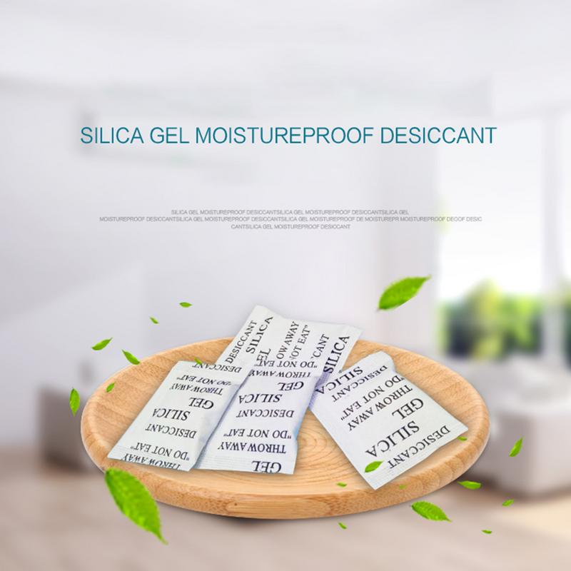 New Useful 50PCS Desiccant 1g Silicone Moisture-Proof Bead Dehumidification Package Home Tool