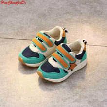 2018 Kids Mesh Sneakers Children Baby Boys Breathable Running Star Shoes Student Girls Casual Sports Shoes(China)