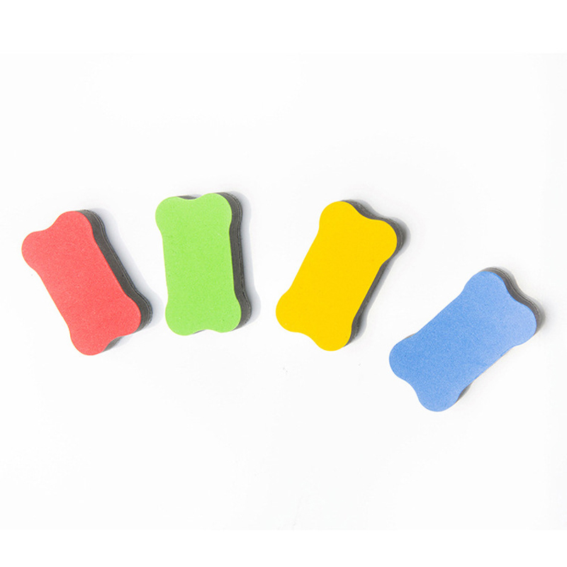 EVA Magnetic Whiteboard Eraser Child Bone Type Cartoon Cleaning Board Eraser Early Education Felt Blackboard Eraser