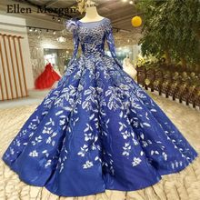 79e9a181b0023 Blue Wedding Dress Long Sleeve Promotion-Shop for Promotional Blue ...