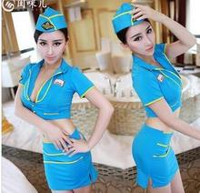 NEW COSPLAY youth A flight attendant uniforms Sexy lingerie women costumes Sex Products toy kawaii Sexy underwear Role play free