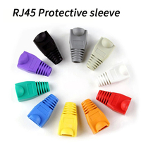 100pcs Black rj45 caps cat6 network boots sheath cat6a cat5 cat5e protective sleeve multicolor ethernet cable connector Covers цена и фото