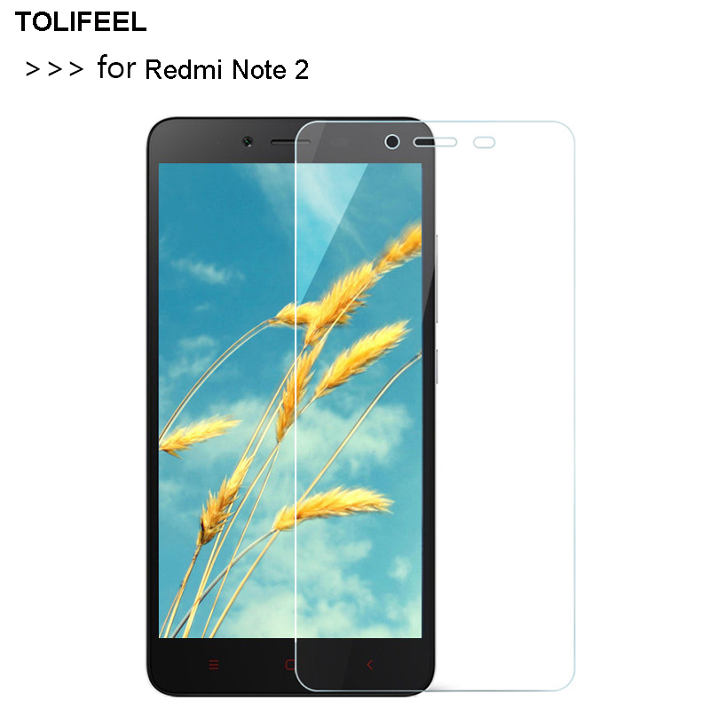 TOLIFEEL Tempered Glass For Xiaomi Redmi Note 2 Screen Protector 2.5D 9H Premium Protective Film On Redmi Note 2 Glass Capa