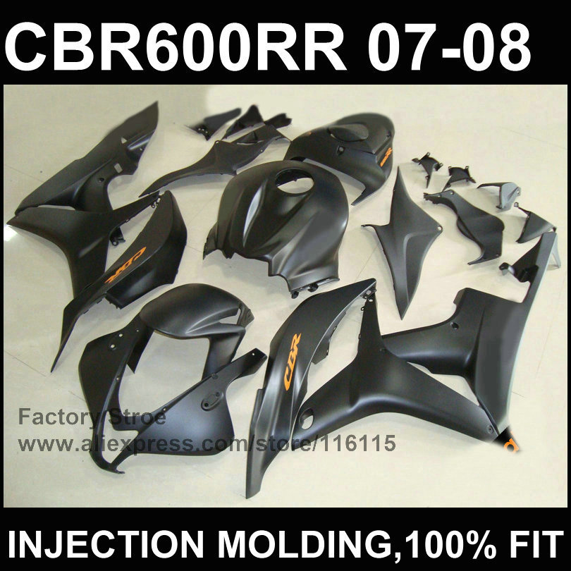 Black gray fairing kits  Injection mold fairing  for HONDA F5 CBR 600 RR  2007 2008 cbr600rr  07 08 ABS plastic fairing part high tech and fashion electric product shell plastic mold