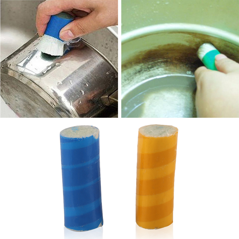 Hot sale 2pc Magic stick stainless steel decontamination Cleaning Brush Metal Rust Remover Cleaning Stick Wash Brush Pot