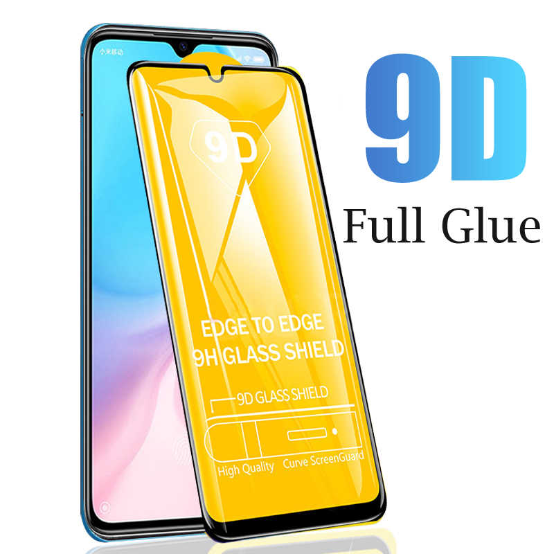 9D cubierta completa de pegamento de vidrio Protector para Xiaomi mi 9t pro 9 se cc9 cc9e Protector de pantalla de vidrio templado en xio mi xao de mi 9 mi 9t