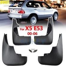 רכב Mudflaps עבור BMW X5 E53 2000   2006 בוץ משמרות Splash מדפי מגני בץ בוץ דש קדמי אחורי פגוש 2001 2002 2003 2004 2005