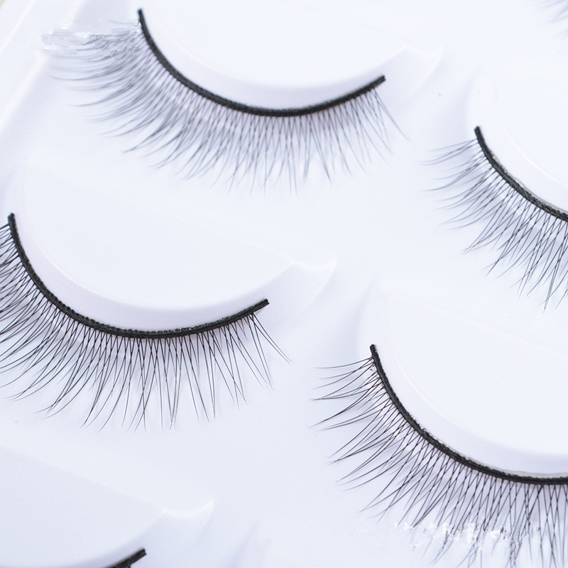 f69c1523741 5 Pairs Natural False Eyelashes Handmade Long Thick Black Crisscross  Extension Eye Lashes Artificial Soft Fake