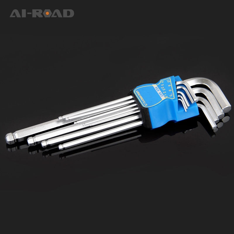 9 Pcs T-Handle Hex Key Set,Hex Dual Drive for Automotive Household Projects,L-Wrench Household Repair Hand Tools Kit,1.5MM-10MM