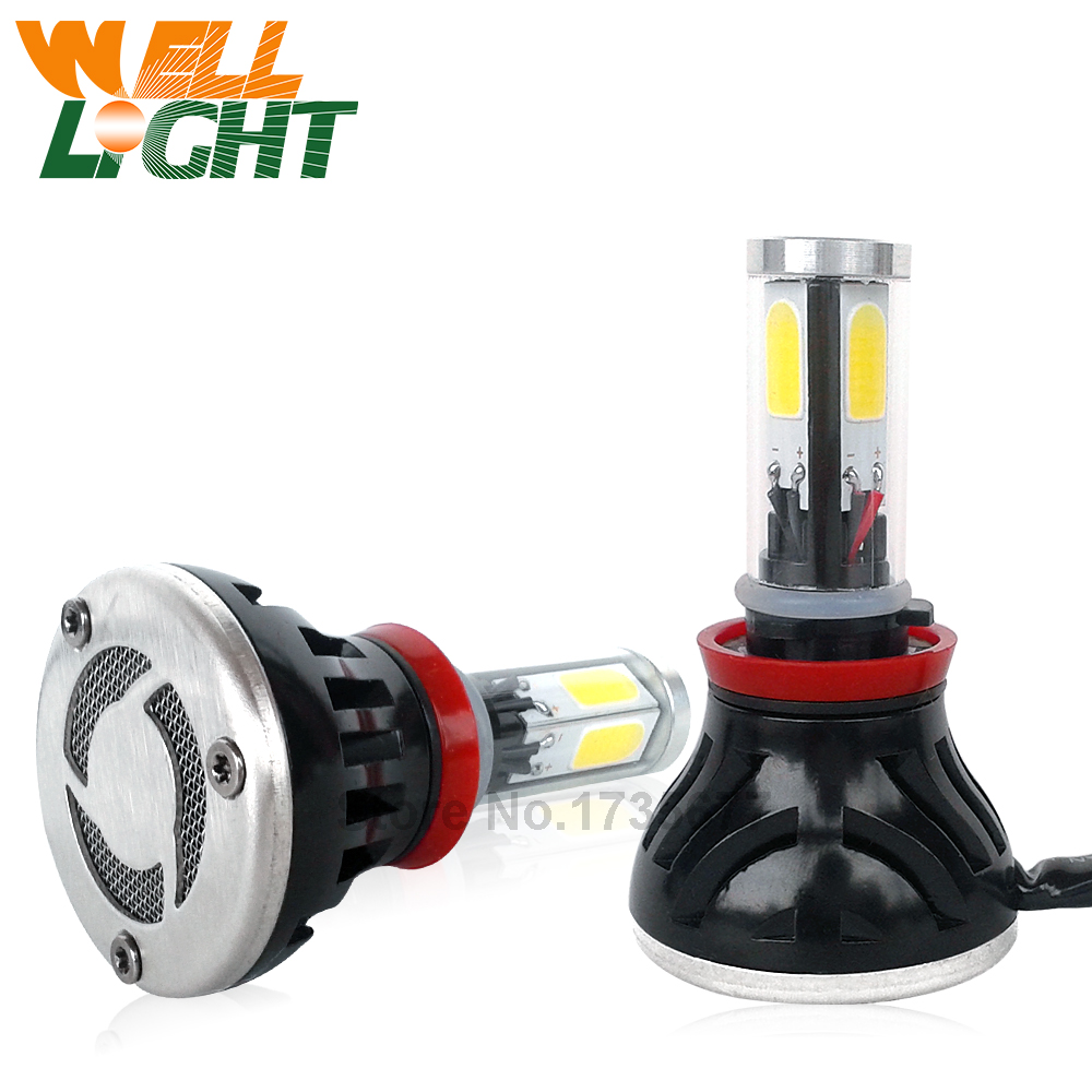 Pair H11 LED 80W High Power automotive Led Bulbs Head Fog DRL font b Light b