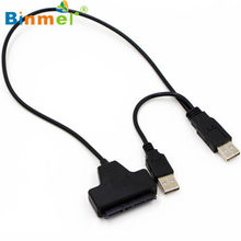 Binmer 2017 USB 2.0 SATA 7 + 22Pin untuk USB 2.0 Kabel Adaptor untuk 2.5 HDD Laptop Hard Disk Drive mikro Sep 12(China)