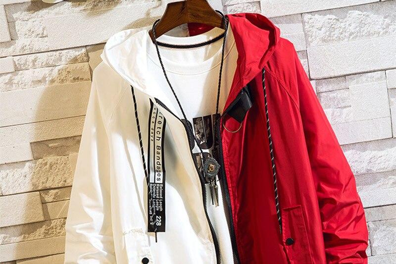 Men's bomber Jacket Colorblock Jacket Fashion Sportswear Casual Jacket Men's Hip Hop Street Suit 2019 New Hooded Jacket