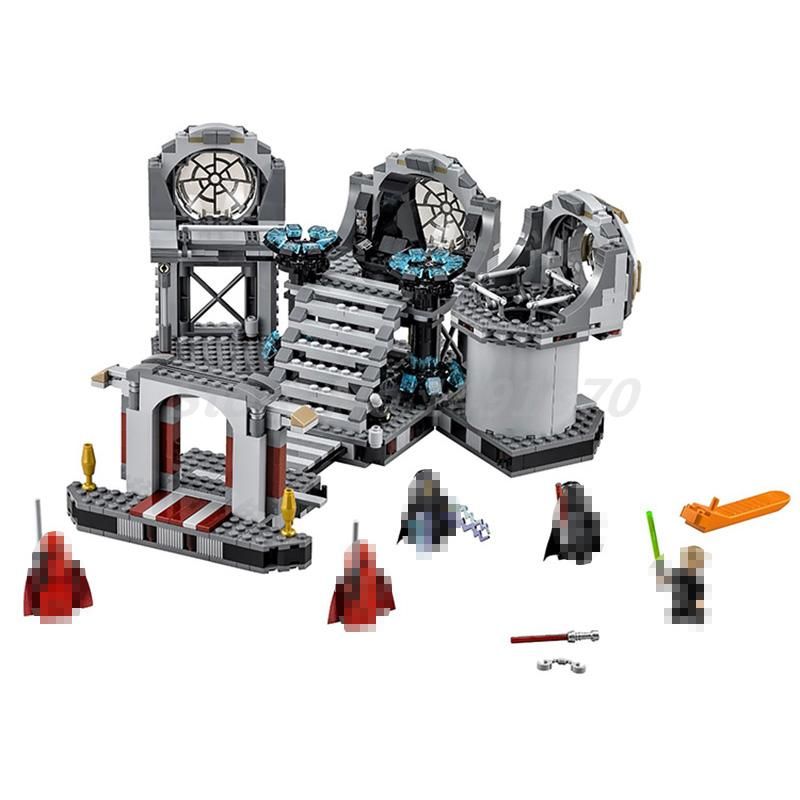 BELA 10464 Star Wars Series The Death Star Final Duel Model Building Block Sets Classic Boys Toys For Children Birthday Gifts star wars boys black