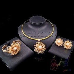 Darmowa wysyłka hurtowa chunky komunikat naszyjnik zestaw złotej biżuterii 18 karatowego złota naszyjnik cena
