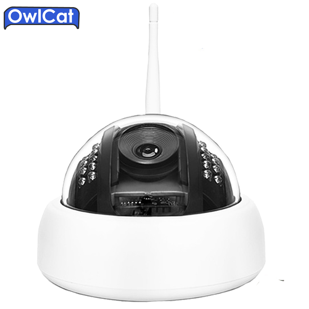 HD 720P OWLCAT Onvif WIFI Dome IP Camera Home Video Surveillance Smart Dome IR CCTV Network Security camera Support 128G SD Card owlcat indoor bullet cctv camera guard wall mount plastic housing shield with bracket for video surveillance security cameras