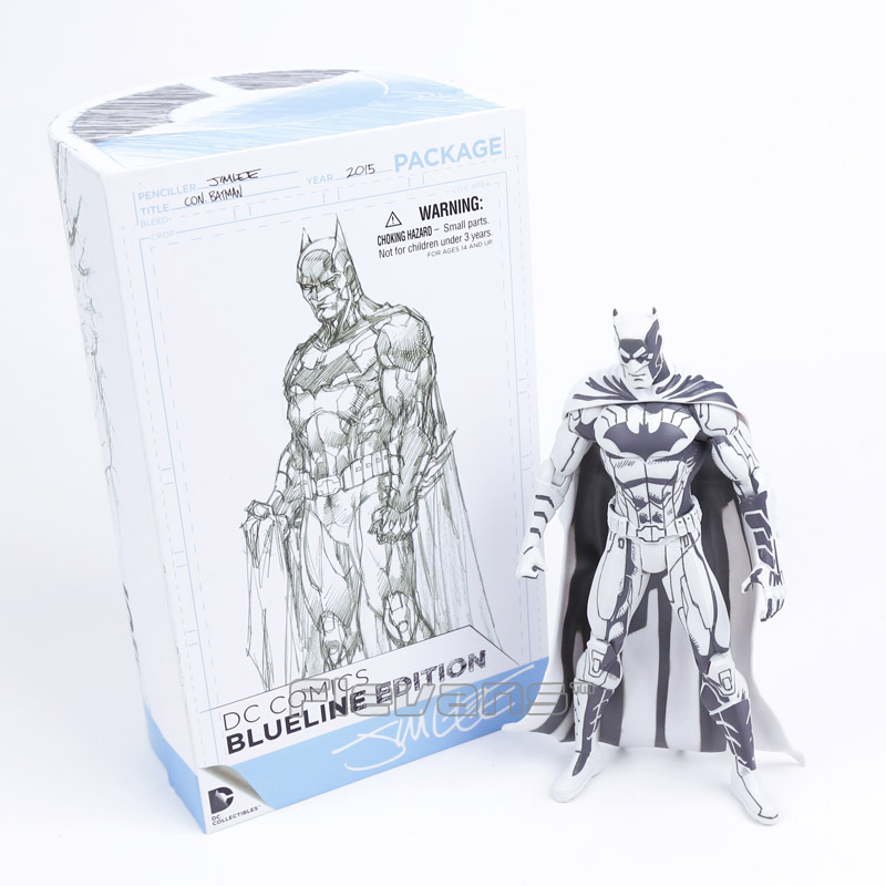 DC COMICS Batman Blueline Edition PVC Action Figure Collectible Model Toy 16.5cm neca dc comics batman superman the joker pvc action figure collectible toy 7 18cm 3 styles