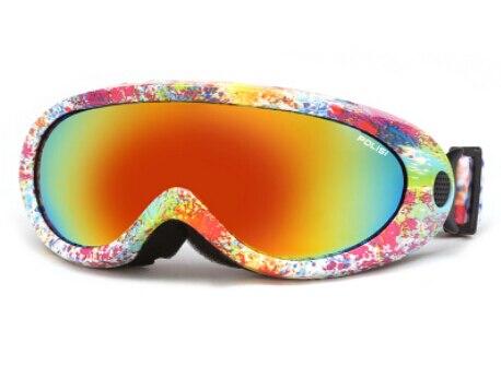 Polisi gafas de esquí de invierno al aire libre niños niños snowboard skate mont