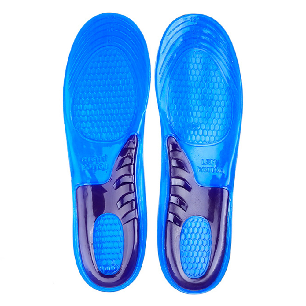 Silicone Anti-Slip Gel Soft Sport Shoe Insole Pad Large Size Orthotic Arch Support Massaging Insole For Man Women 6-10 men and women sport shoes insole pad orthotic arch support massaging anti slip soft shock absorption silicone gel insoles