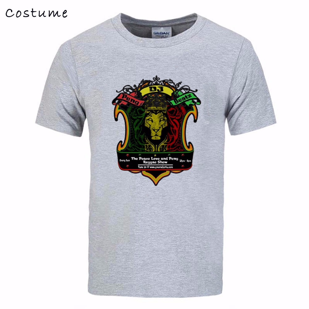 Design t shirt reggae - Popular Men 3d T Shirts Peace Love Reggae Design Male Summer Brand Clothing Short Sleeve Cotton Tee Juventus Club Mma Tshirts