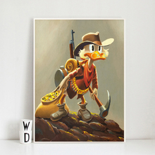 Cartoon Duck Comics Wallpaper Wall Art Canvas Poster And Print Painting Oil Decorative Picture For Living Room Home Decor