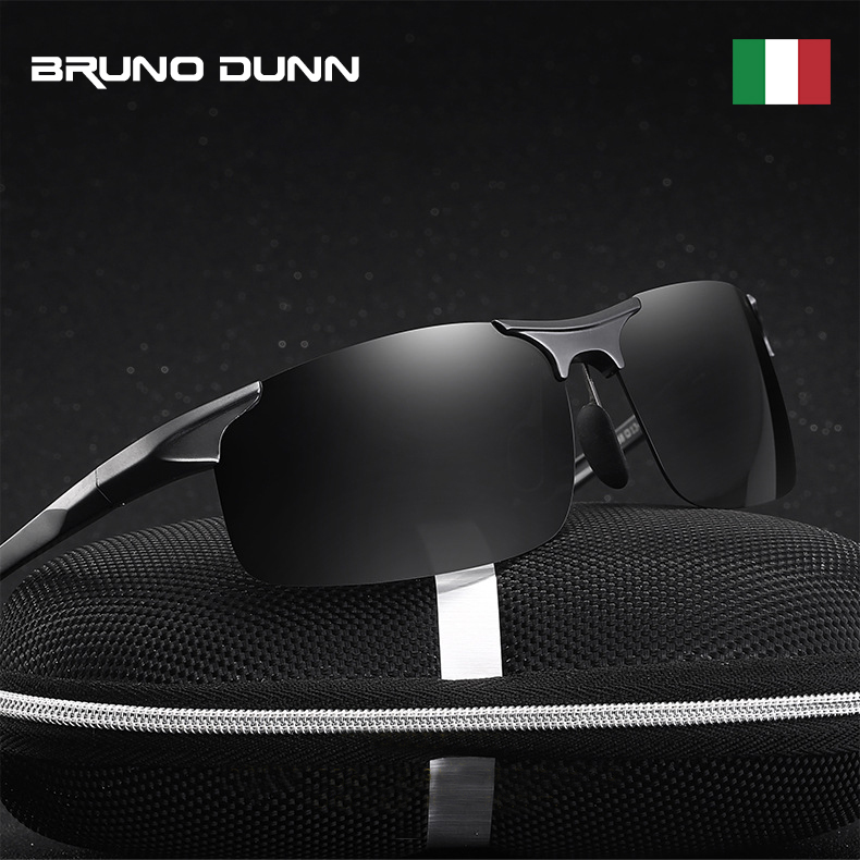 Bruno Dunn Driving polarized Men sunglasses 2020 sports High Quality UV400 Aluminum sun glasses for male oculos de sol masculino 2