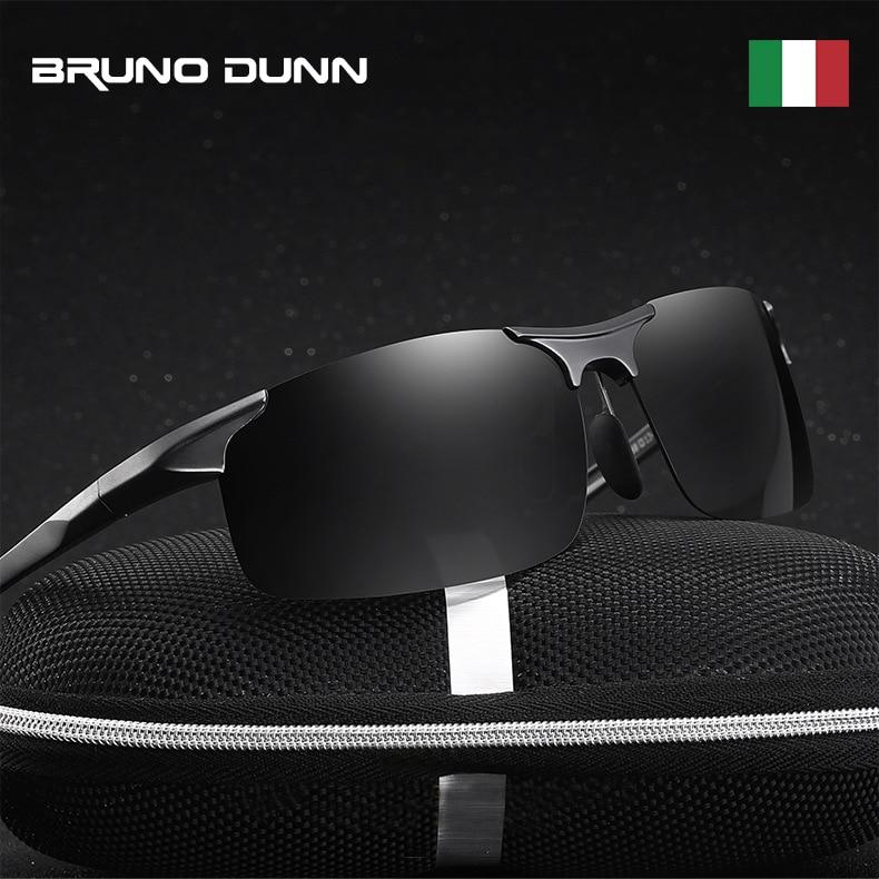 Bruno Dunn Driving polarized Men sunglasses 2020 sports High Quality UV400 Aluminum sun glasses for male oculos de sol masculino 2