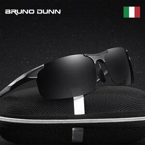 Image 2 - Bruno Dunn gafas de sol polarizadas para hombre, lentes de sol deportivas de alta calidad, de aluminio, UV400, 2020