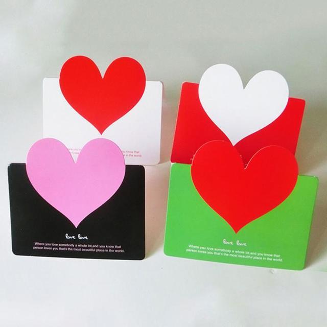 10 PCS 3D Love Heart Birthday Thanksgiving Day Greeting Postcards