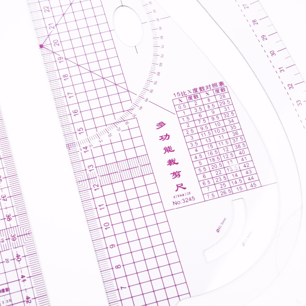 13Pcs Sewing Ruler Tailor Measuring Kit Yardstick Sleeve Arm French Curve Ruler Set Cutting Rulers for Sewing Cutting DIY Sewing Tools Clear Sewing Drawing Ruler