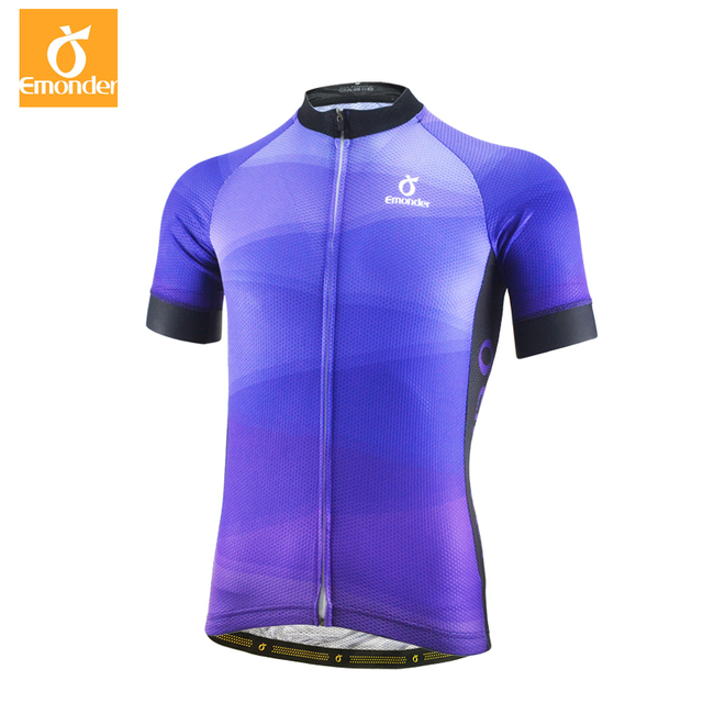 65812fc08 EMONDER Mens Race Cycling Jersey Pro Team Road Mtb Short Sleeve Bicycle  Shirt Top Quality Mesh