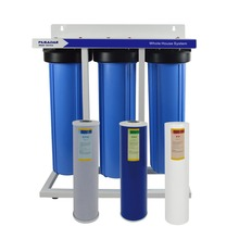 цена на 3-Stage Whole House Water Filtration System with filters-Sediment,GAC&Cococnut Carbon Block(CTO)include wrench ,1-Inch Port