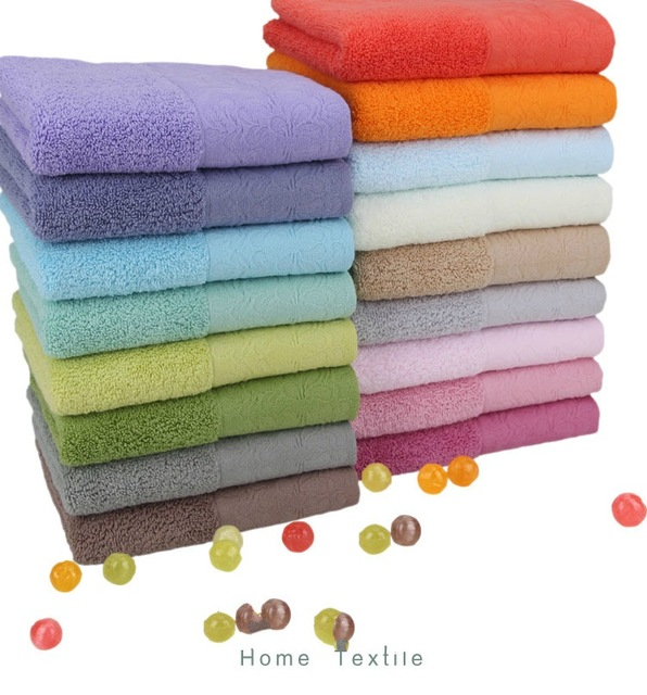 Embroidered Terry Cloth Hand Towels: 2PCS/LOT 34*75cm Elegant Cotton Terry Towels For Adults