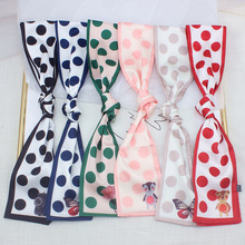 New Dotted design beautiful print womens scarves neckerchief summer season multi-use hair scarf clothing decorates