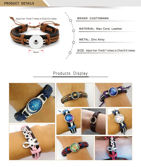 Dog Paw Fish Bone Turtle Tortoise Scissors Shears Skull Eiffel Tower Arrow Animal Charm Leather Bracelets Women Men Jewelry  5