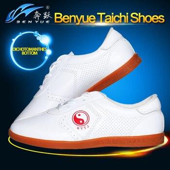 6419f2e36b0 Calidad superior 2 colores PU cuero adulto hombre mujer Taichi zapatos  Wushu Kungfu Tai chi zapatos Taiji zapatos Unisex