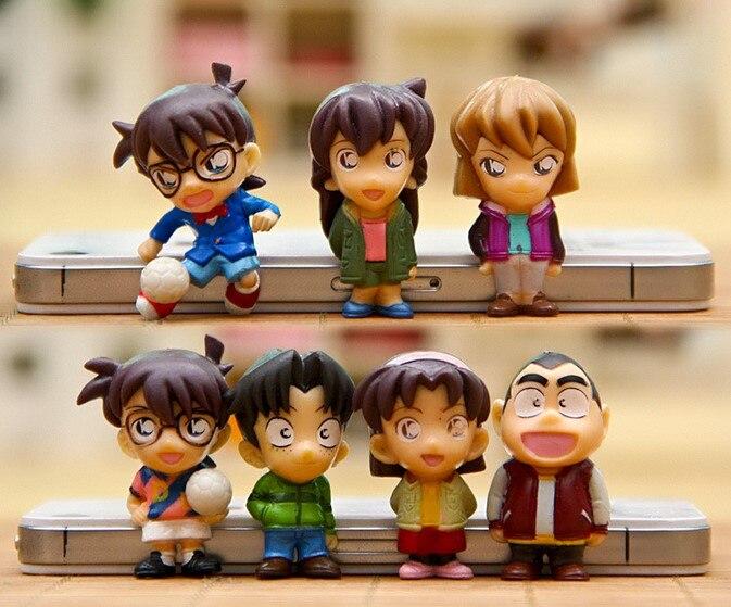 8pcs/set Anime Detective Conan PVC Doll Figure Toy Mini Dolls Gift For Children Free Shipping