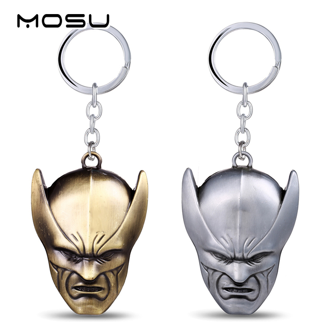 MOSU 12/pcs/lot The Moive X-Men Mask Key Chain High quality Metal Key Rings For Women&Men Chaveiro Nice Gift can Drop-shipping